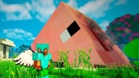 Опасные битвы в Minecraft 120 – ПИГЗИЛЛА (Свинья Мутант из Космоса)