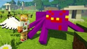 Опасные битвы в Minecraft 121 – Босс Абсидиановый ПАУК