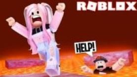 ROBLOX THE FLOOR IS LAVA CHALLENGE WITH PINKIEPOP GAMING