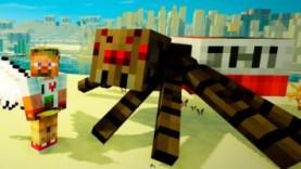 Опасные битвы в Minecraft 122 – Босс Динамитный Паук Мутант (Сын Крипера)