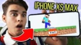 ИГРАЮ В МАЙНКРАФТ НА НОВОМ IPHONE XS MAX! УГАРНЫЙ ТРОЛЛИНГ НУБИКОВ